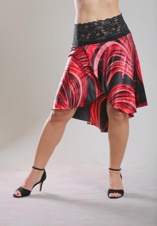 Tangolass Tango Fashion - Satin Tanzrock in rot Tangolass ...